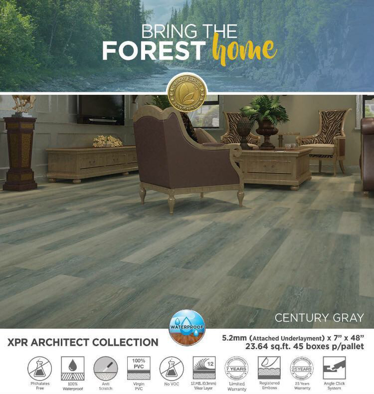 Parkay XPR – Century Gray Architect Collection